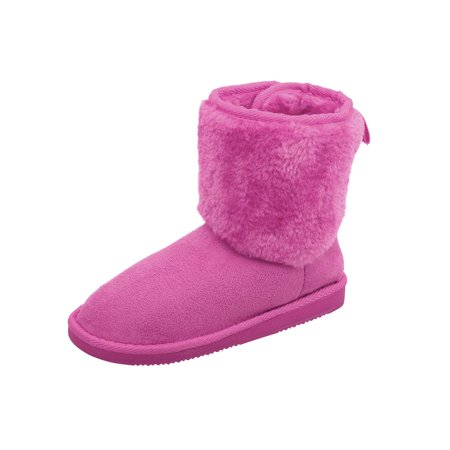 6d5378a28bc BASILICA - Kids Winter Boots Faux Fur Lined boys girls Winter Warm Snow  Boots 2 - Walmart.com