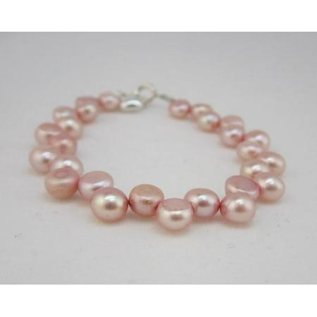 - Pink Freshwater Pearls Beaded Bracelet