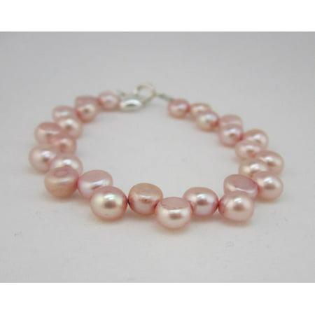 Pink Freshwater Pearl Bracelet (Pink Freshwater Pearls Beaded Bracelet)