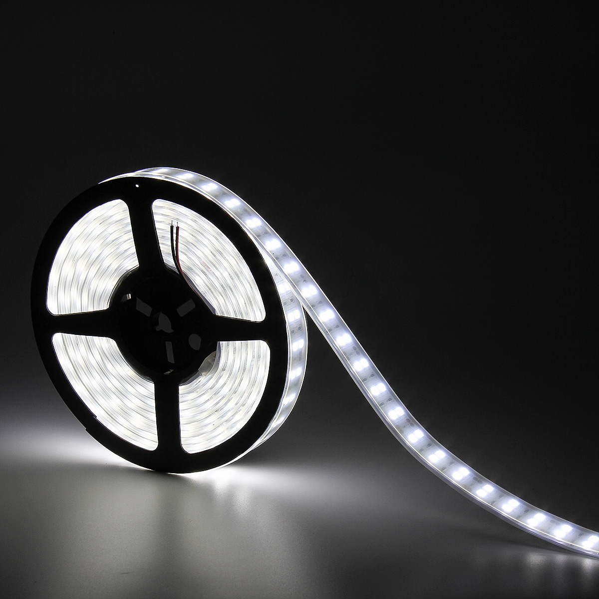 SUPERNIGHT Cool White 5m IP67 Waterproof Flexible LED Strip Light Lamp 600 LEDs SMD 5050 Indoor Outdoor Decorative LED Tube Lighting DC 12V
