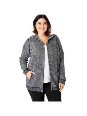 f62a41267c74c Product Image Roaman s Plus Size Thermal Hoodie Cardigan