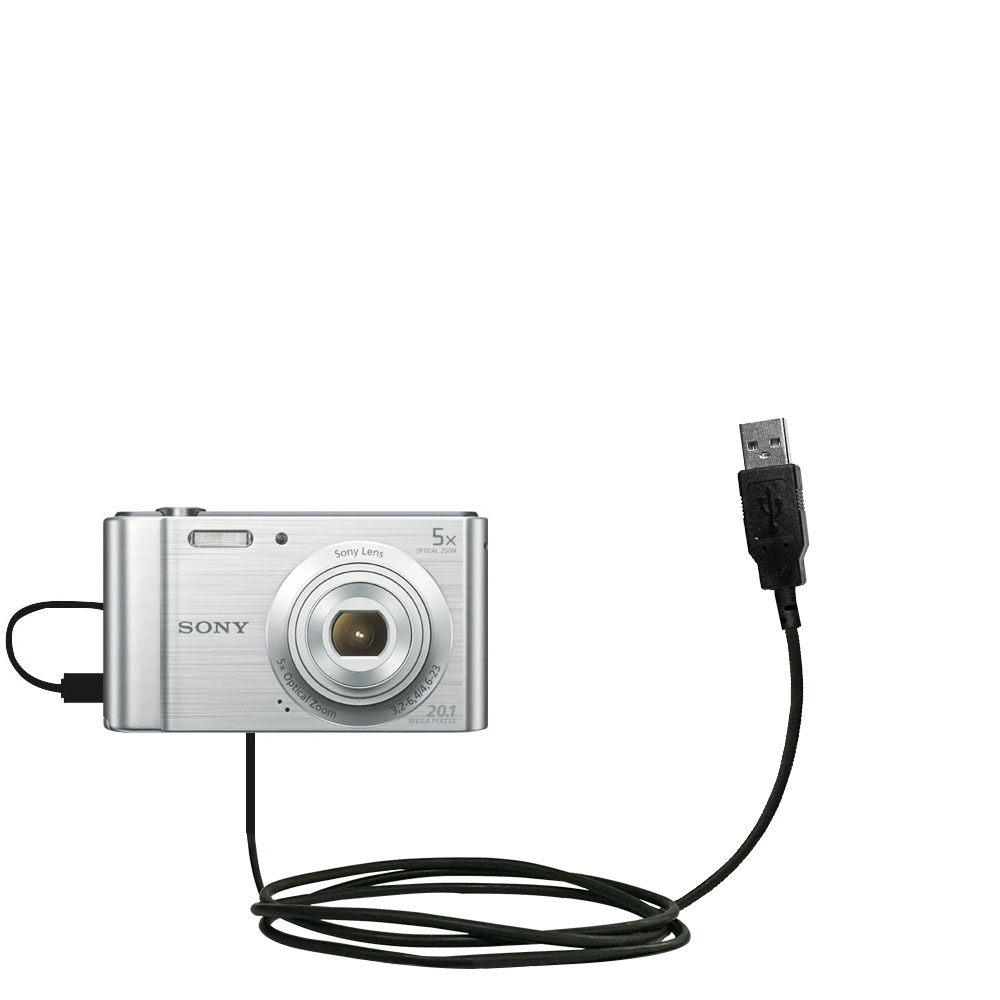 USB Data Charge Sync Cable Lead For REPLACEMENT USB CABLE FOR SONY Cybershot DSC-WX500 Camera