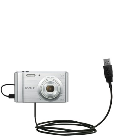 Classic Straight USB Cable suitable for the Sony DSC-W800 / DSC-W810 with Power Hot Sync and Charge Capabilities - Uses Gomadic TipExchange