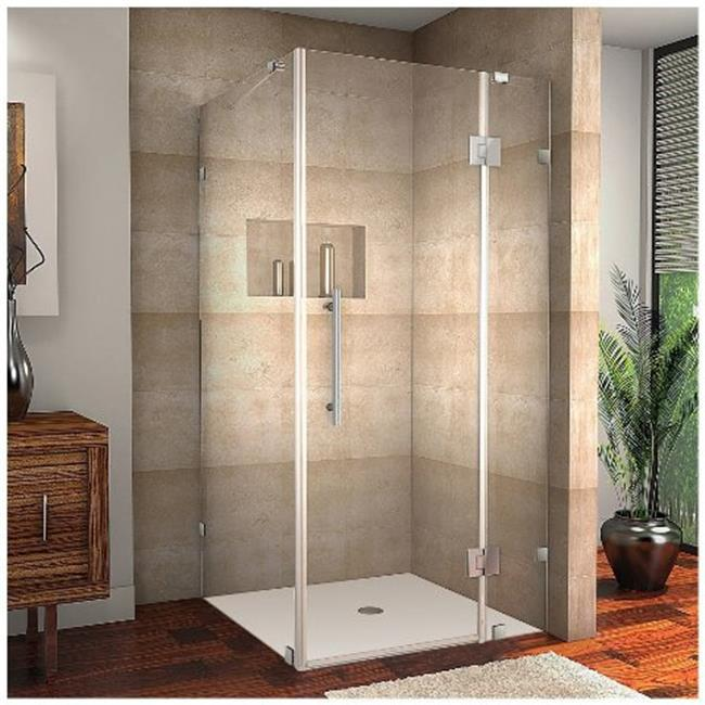 AstonGlobal SEN987-SS-3634-10 Avalux 36 x 34 x 72 in. Completely Frameless Shower Enclosure in Stainless Steel - image 1 of 1