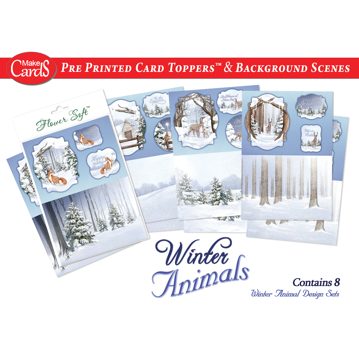 Katy Sue Designs Card Toppers & Background Scenes-Winter Animals