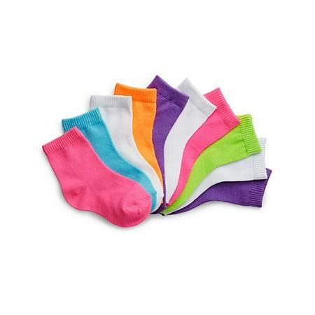 Hanes Ankle Socks, 10-pack (Toddler (Best Girls Socks)