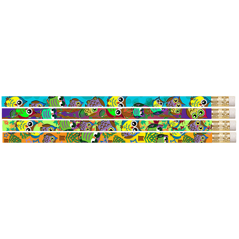 OWL CORRAL MOTIVATIONAL PENCILS  PACK OF 12