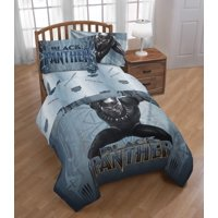 Avengers Black Panther Full/Twin Comforter and Full Sheet Set with Throw and Pillow Buddy Bedding Collection