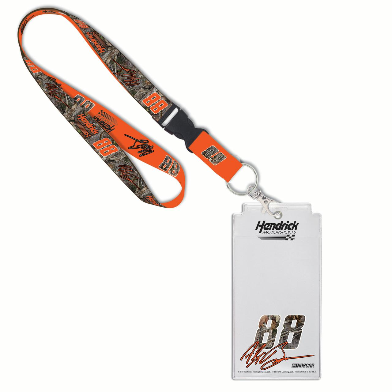 "Alex Bowman WinCraft 1"" Camo Lanyard & Credential Holder - No Size"