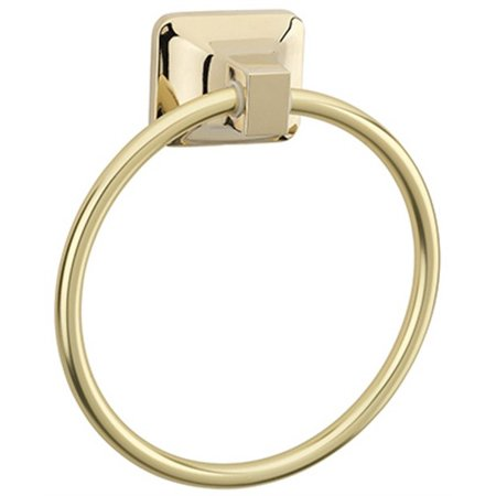 Homewerks Worldwide-Import 180821 Towel Ring, Polished Brass