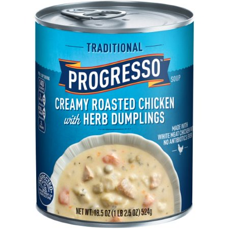 Progresso Soup, Traditional, Creamy Roasted Chicken with Herb Dumpling Soup (Pack of 2)