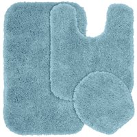 Garland Rug Serendipity 3 Piece Shaggy Nylon Washable Bathroom Rug Set