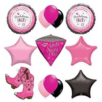 "Bachelorette Party Supplies and Balloon Decorations ""Cowgirls Night Out!"""