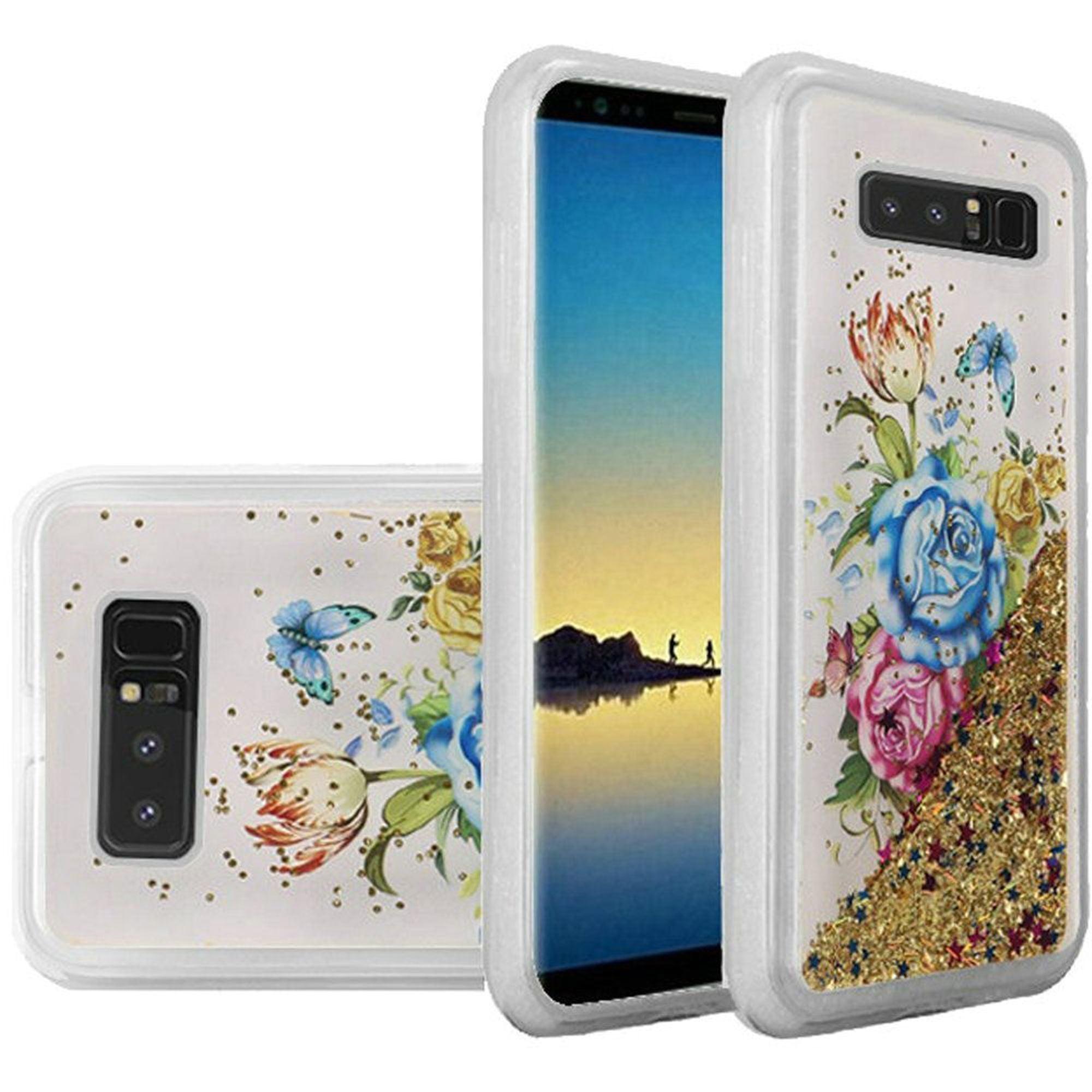 Samsung Galaxy Note 8 case by Insten Luxury Quicksand Glitter Liquid Floating Sparkle Bling Fashion Phone Case Cover for Samsung Galaxy Note 8
