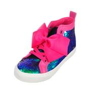 Jojo Siwa Girls' Hi-Top Sneakers (Sizes 11 - 4) - pink, 11 toddler