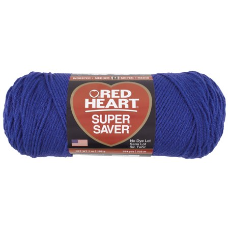 Red Heart Acrylic Super Saver Acrylic 7 Ounce Skein Economy Royal Blue Yarn, 1 Each