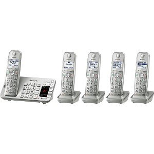 Panasonic Link2Cell Cordless Phone with Large Keypad, 5 Handsets ()