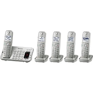 Panasonic Link2Cell Cordless Phone with Large Keypad, 5 Handsets