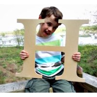 Paintable Wood Letter, 24'' Times H, Large Wooden Letter, Craft