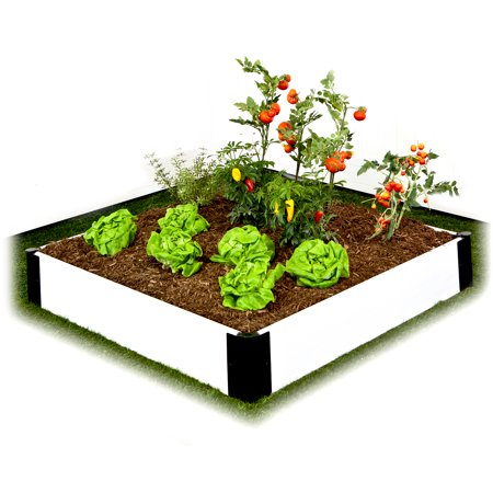 Frame It All 4 39 X 4 39 X 8 White Composite Raised Garden
