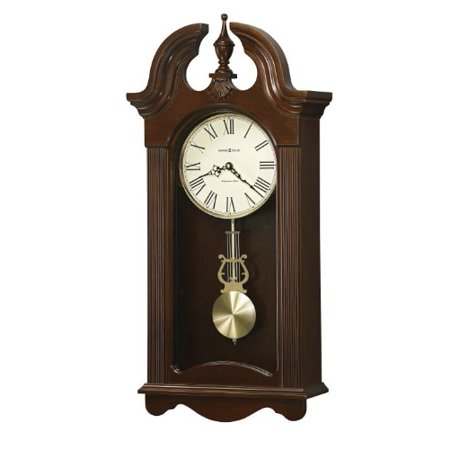 Howard Miller Malia Wall Clock with Westminster Chime, Cherry Finish, Quartz (Westminster Chime Wall Clock With Pendulum Movement)