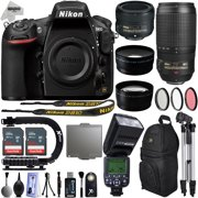 Nikon D810 DSLR Digital Camera with 18-55mm VR II + 55-300mm VR Lens + 128GB Memory + 2 Batteries + Charger + LED Video Light + Backpack + Case + Filters + Auxiliary Lenses + $50 Gift Card + More!