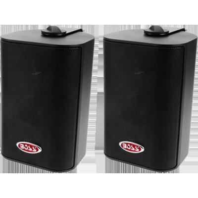 "Boss Audio MR4.3B Box Speakers, 4"" 3-Way, 200 Watt, Black"