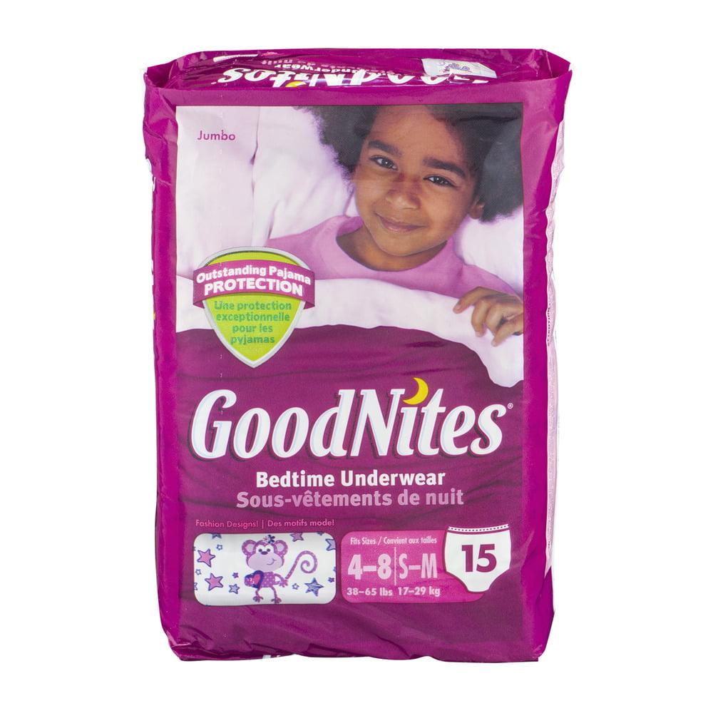 GoodNites Bedtime Underwear 4-8/S-M Fashion Designs - 15 CT