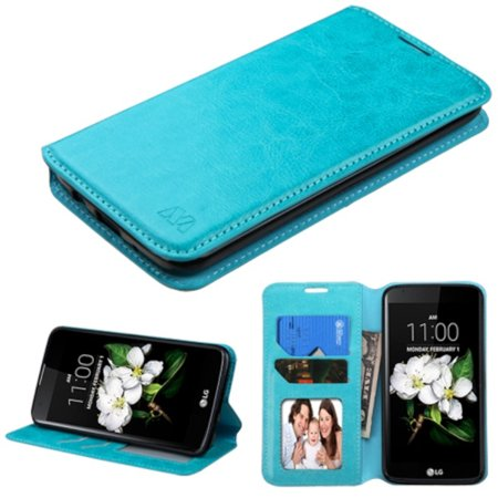 new style 48ca3 87c87 LG K7 Phone Case, LG K7 Case, LG K8 Case, by Insten Folio Leather Wallet  Cover Case w/stand/card slot/Photo Display For LG K7 K8 case cover