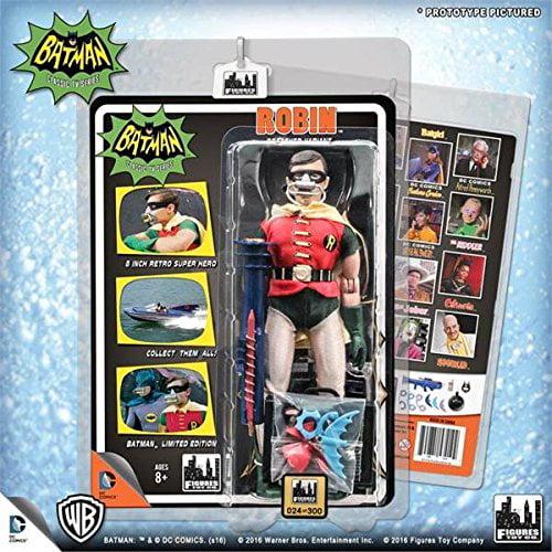 "Action Figures Batman TV 1966 Deluxe Robin Batbreather figure 8"" BMTV037 by Figure Toys Company"