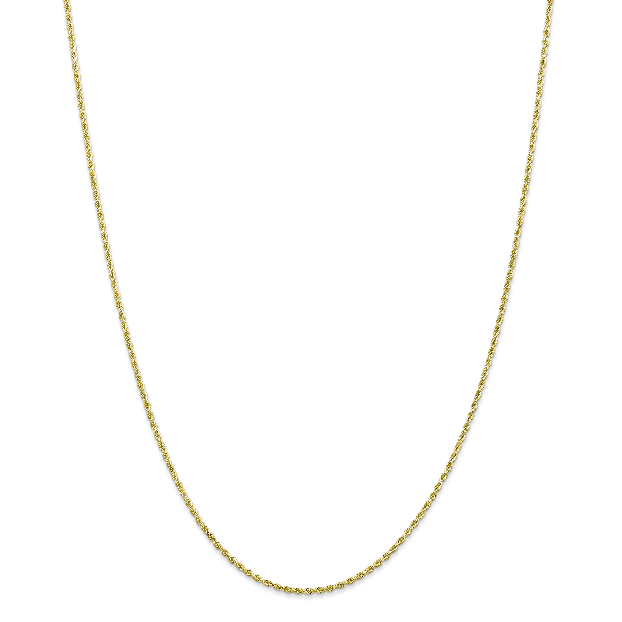 10K Yellow Gold 1.75mm Handmade Diamond Cut Rope Chain 30 Inch - image 5 de 5