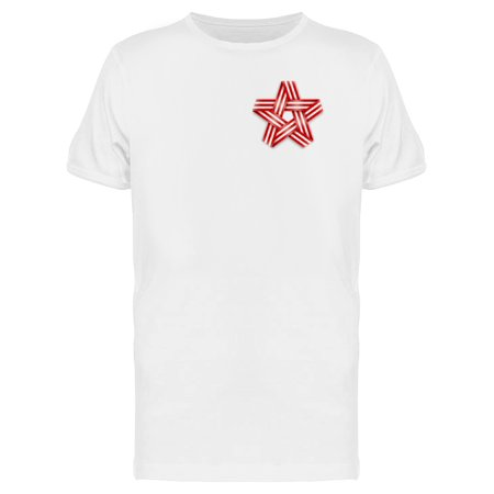 123c9b801e2 Teeblox - Usa Ribbons In Star Shape Upper Tee Men s -Image by ...