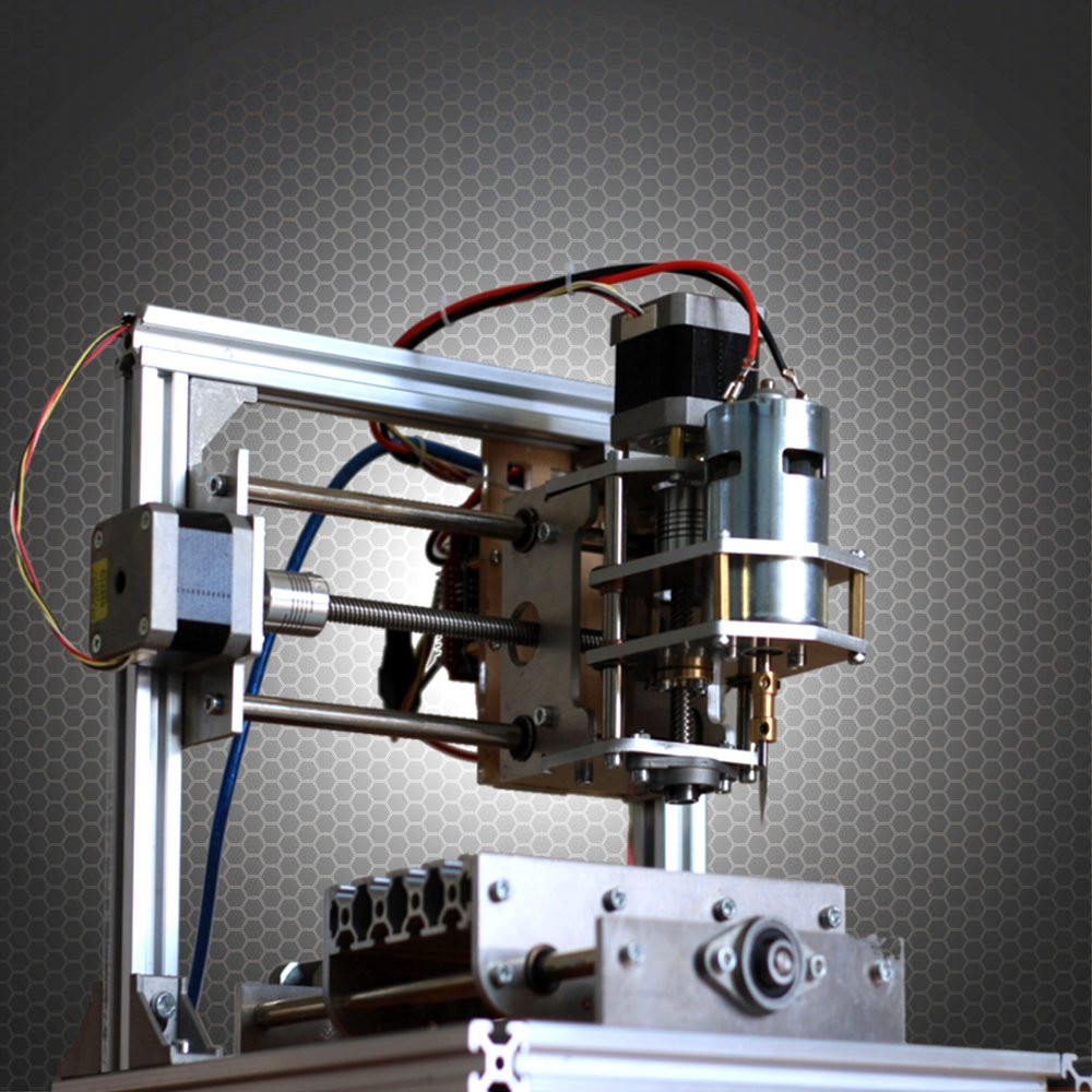 DIY CNC Router 3 Axis Engraver Machine Engraving PCB Milling Wood Carving Tool 13×10cm