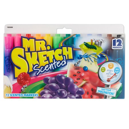 Mr. Sketch® Scented Markers, Chisel Tip, Assorted Colors, Set of 12