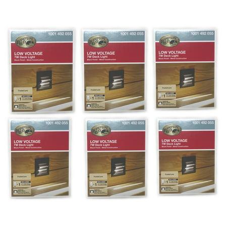 6 Hampton Bay Low Voltage 7W Black Halogen Louver Half Brick Deck