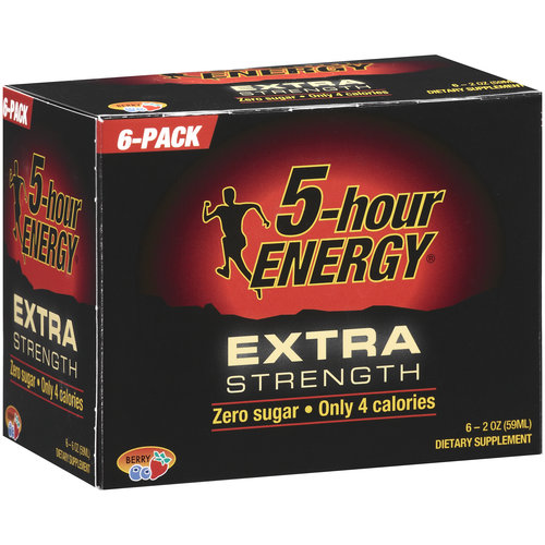 5-Hour Energy Berry Extra Strength Dietary Supplement, 6ct
