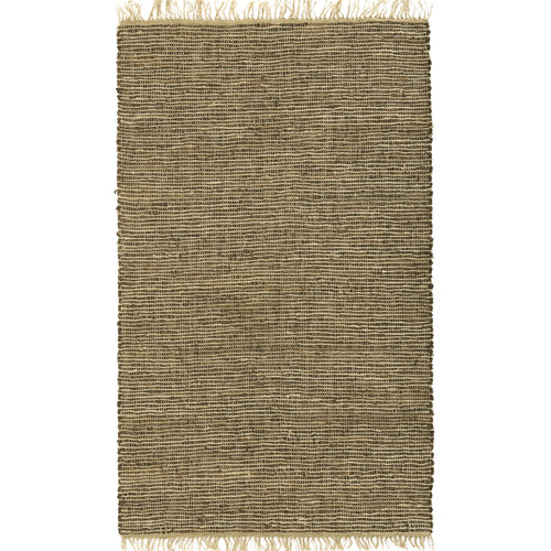 St. Croix Matador Leather/Natural Hemp Brown Area Rug