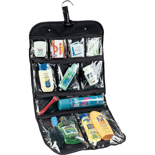 Household Essentials Hanging Cosmetics and Grooming Bag Travel, Black