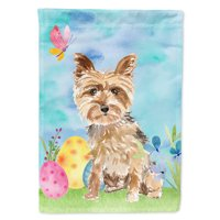 Easter Eggs Yorkie Yorkshire Terrier Flag Canvas House Size