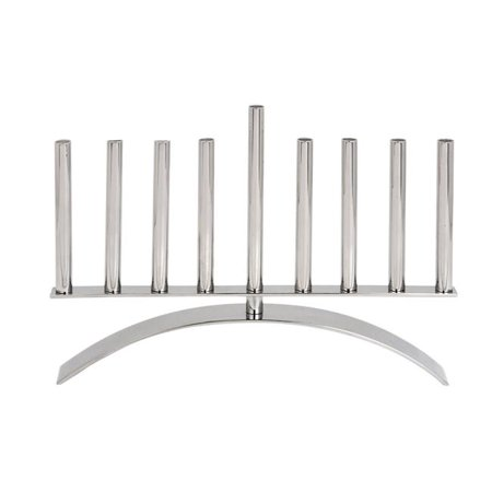 Modern Stainless Steel Menorah - M-676