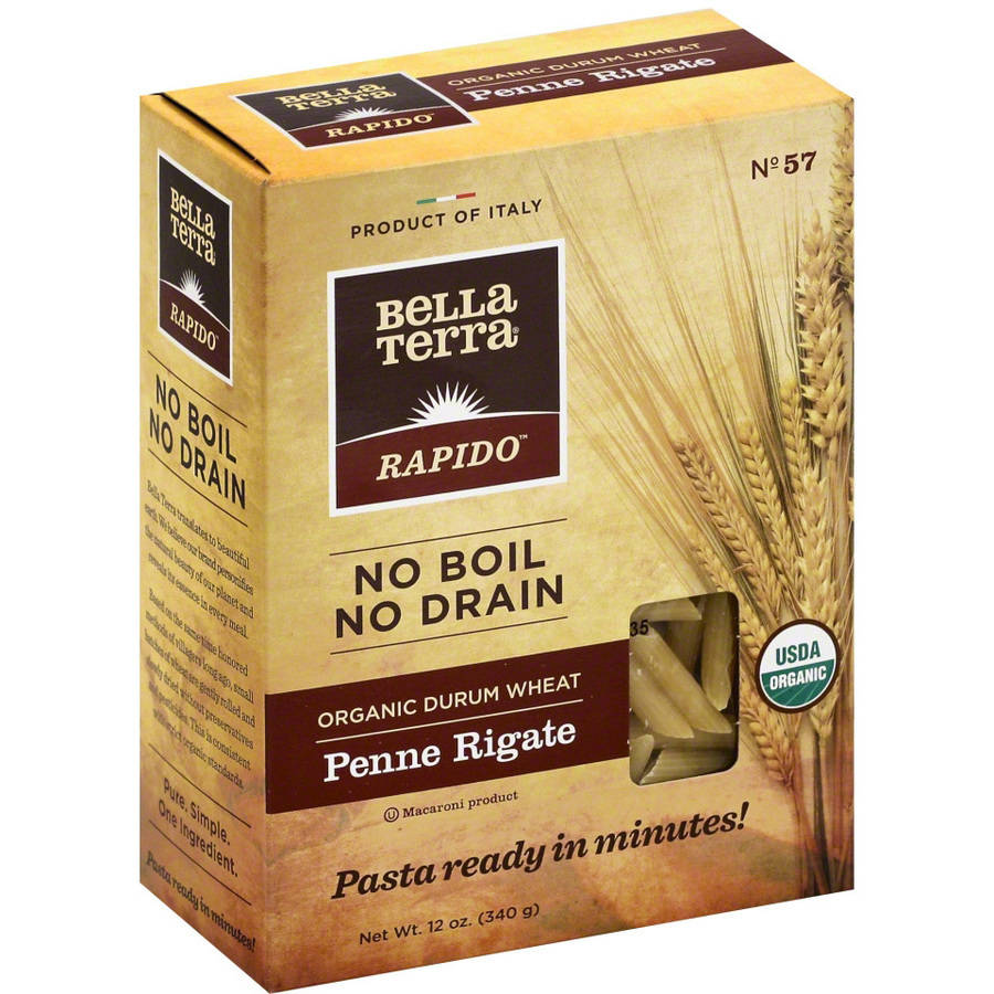 Bella Terra Rapido Organic Durum Wheat Penne Rigate, 12 oz, (Pack of 6)
