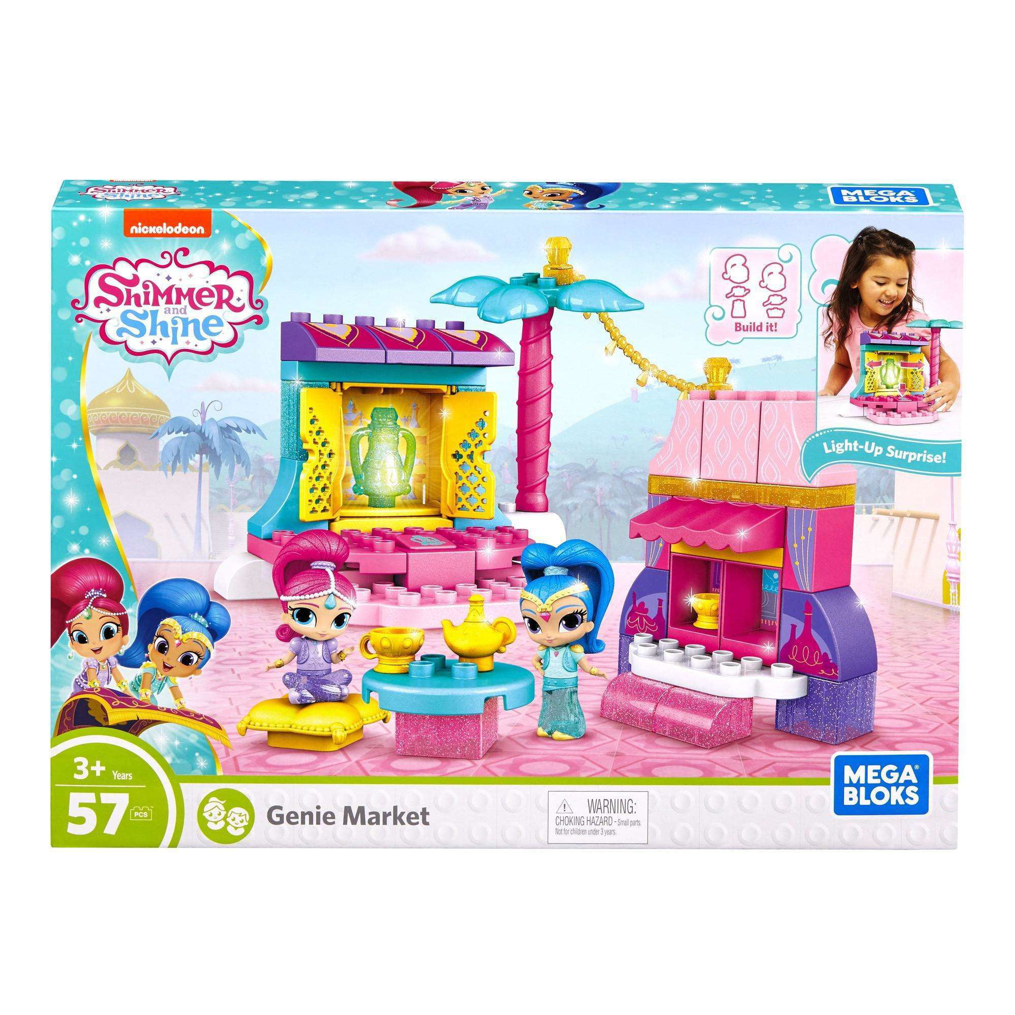 Mega Bloks Shimmer and Shine Genie Market Set by Mega Brands, Inc.