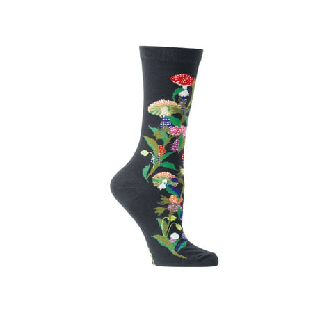 Women's Witches' Garden and Apothecary Floral Socks - Cotton - Muscaria