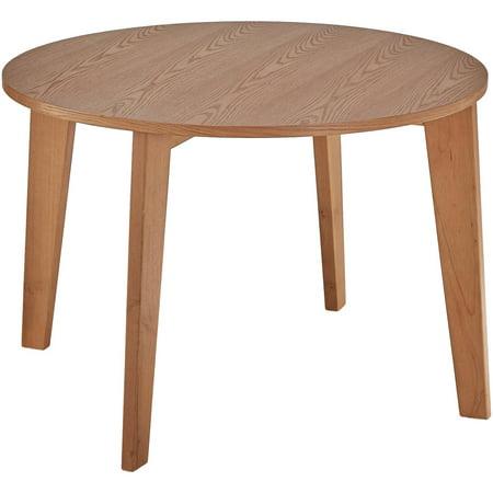 Chelsea lane baxter round dining table light oak for Light oak dining tables