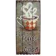 Wall Art-Coffee Plaque-God Made Coffee-Tan