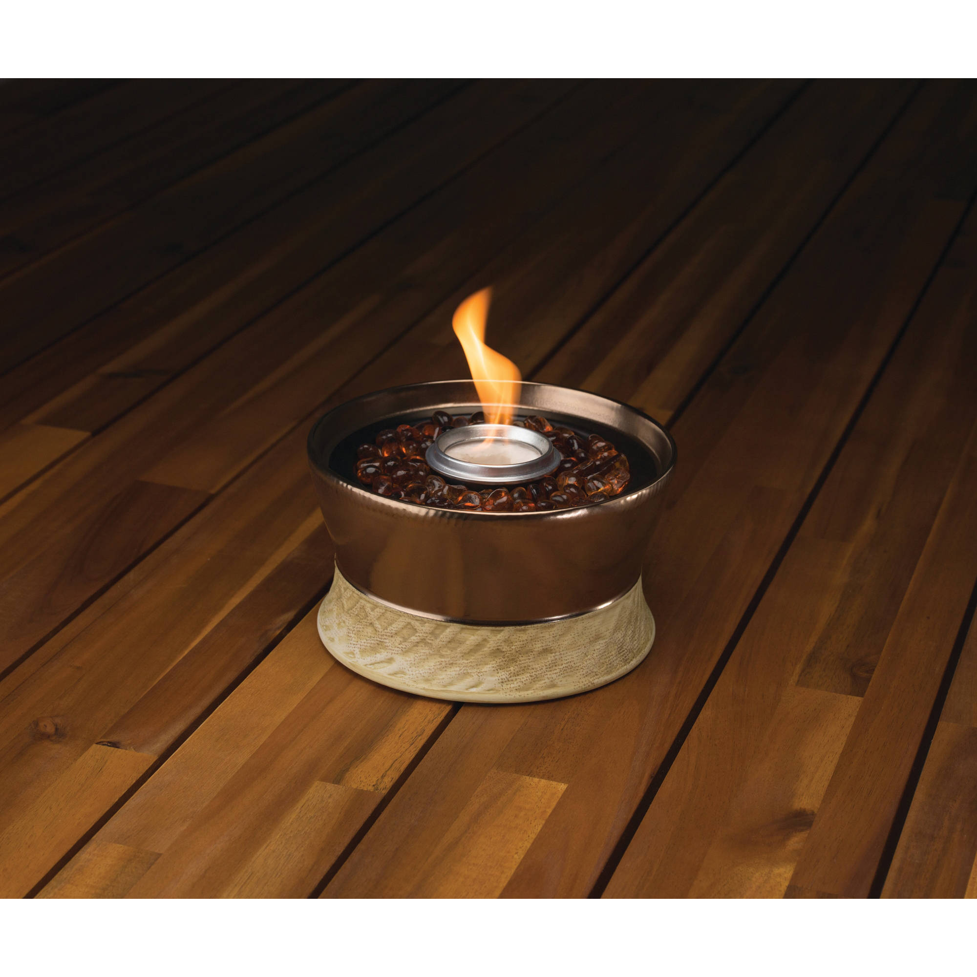 Tiki Brand Clean Burn Small Tabletop Fire Pit Bronze