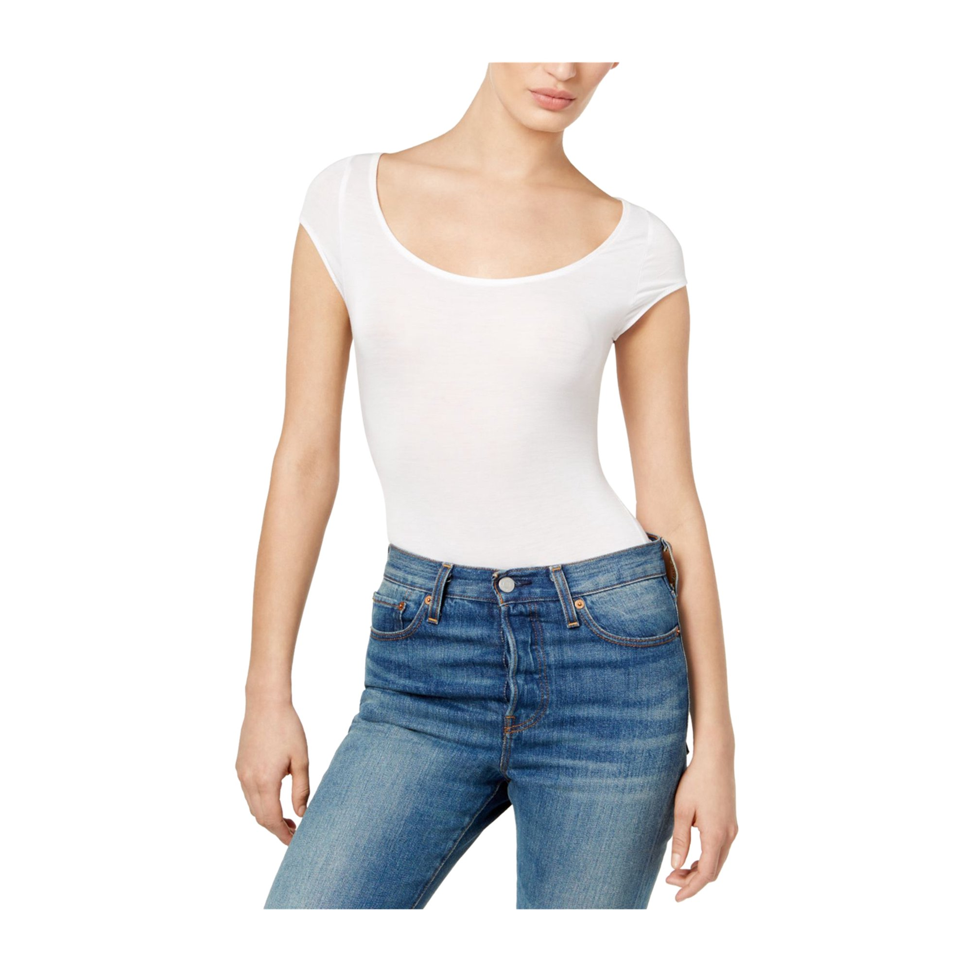 Free People Womens About the Back Bodysuit white XS  942db5a1a