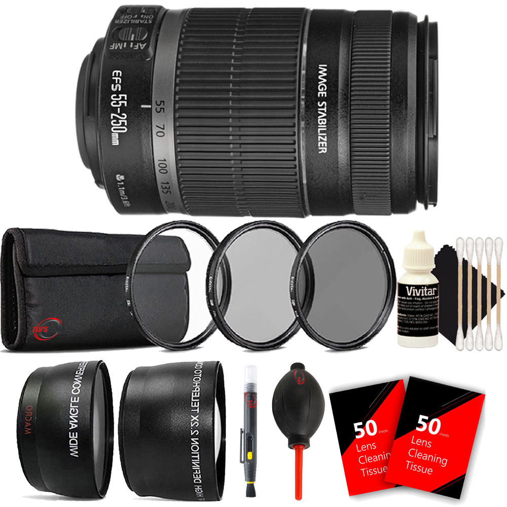 Canon EF-S 55-250mm F4-5.6 IS STM Lens for Canon EOS Rebe...