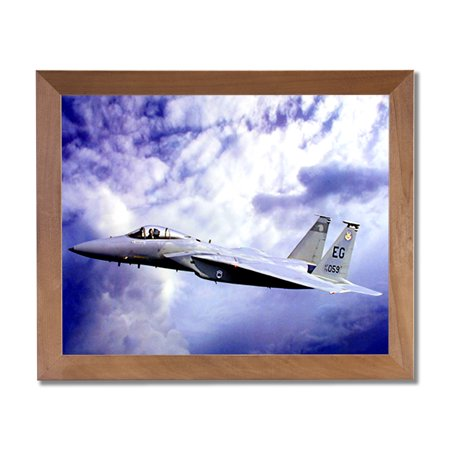 F15 Eagle Jet Fighter Airplane Wall Picture Honey Framed Art Print