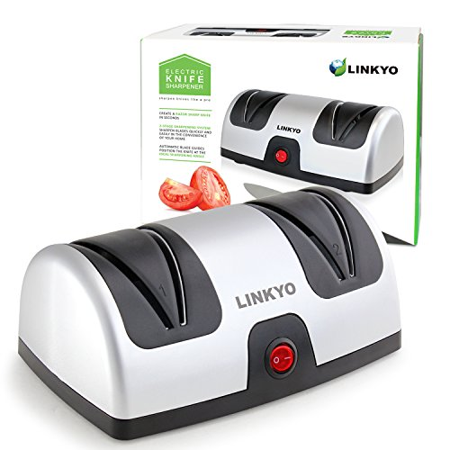 LINKYO Electric Knife Sharpener, 2-Stage Kitchen Knives Sharpener